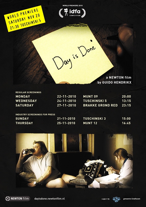 Screenings of Day is Done * a NEWTON film by Guido Hendrikx
